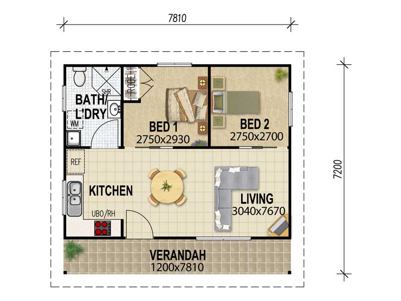 House plan design 3 bedroom - Architecture plans of bedroom flat ...