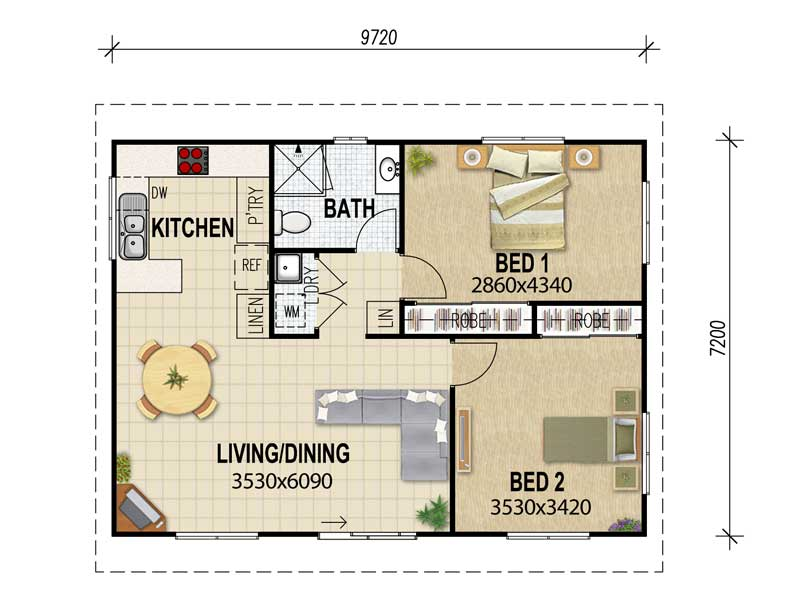 Granny flat plans archive house plans queensland for 2 bedroom granny flat plans