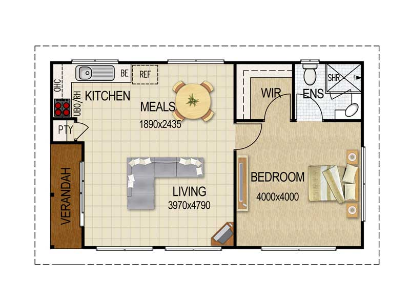 Granny flat on pinterest granny flat plans house plans Granny cottage plans