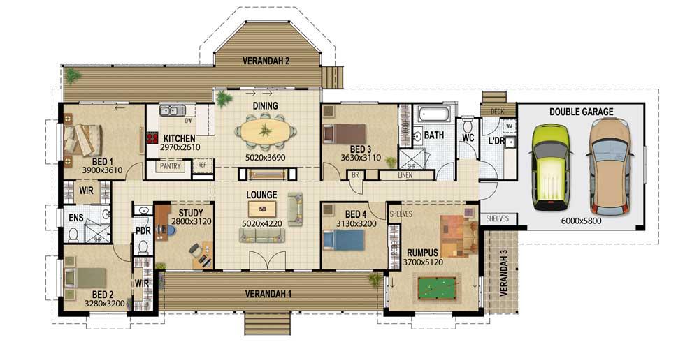 Acreage designs – House Plans Queensland