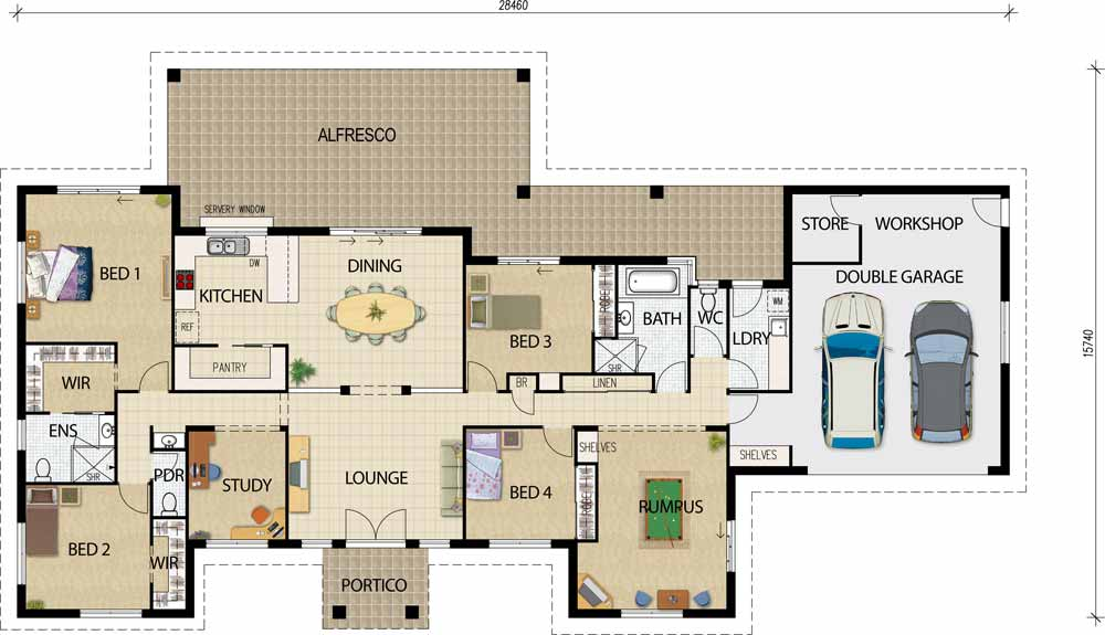 Magnificent Open House Plan 1000 x 575 · 57 kB · jpeg